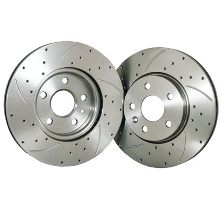 FLPX Rear Proformance Drilled Slotted Brake Rotor Fit 00-06 GMC YUKON