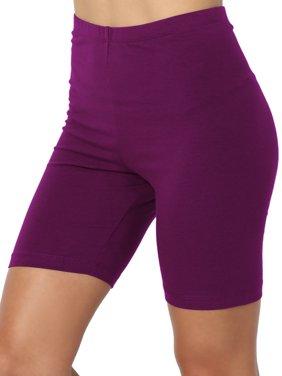 TheMogan Women's PLUS Mid Thigh Stretch Cotton Active Bermuda Under Short Leggings