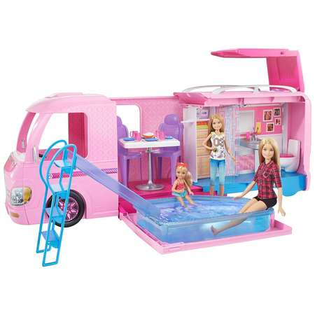 Barbie DreamCamper Adventure Camping Playset with Accessories (Soda Shop Barbie)