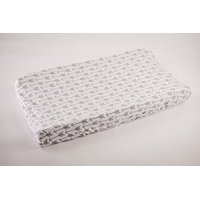 Danha Changing Pad Cover, White Background with Grey Arrows
