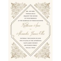 Deco Standard Wedding Invitation