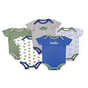 Baby Boy Bodysuits, 5-Pack