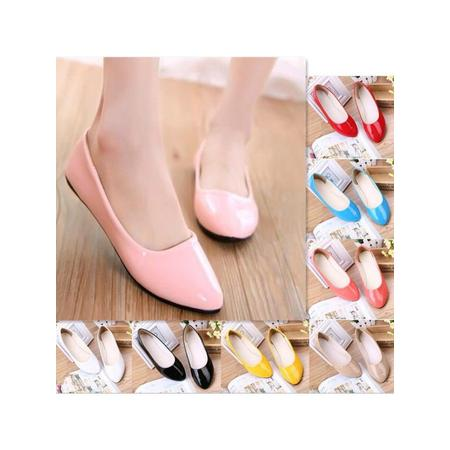 Women Casual Shoes  Ladies Flat Pumps  Ballerina Slip On Dolly Ballet Shoes Slipper Size 8