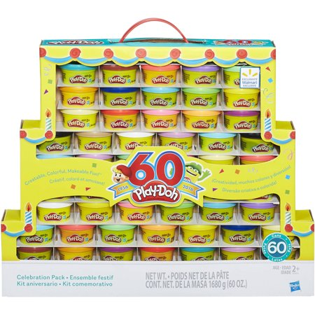 Play-Doh 60th Anniversary 60 Pack, 60 oz - Ninja Turtle Play Doh
