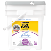 Purina Tidy Cats LightWeight Glade Tough Odor Solutions for Multiple Cats Clean Blossoms Clumping Dust Free Cat Litter - 17 lb. Pail
