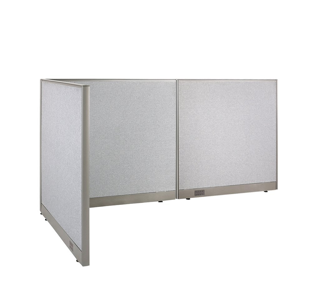 Office cubicle wall Tall Gof Lshaped Freestanding Office Panel Cubicle Wall Divider Partition 48d 96w 48h The Hathor Legacy Office Cubicle Dividers