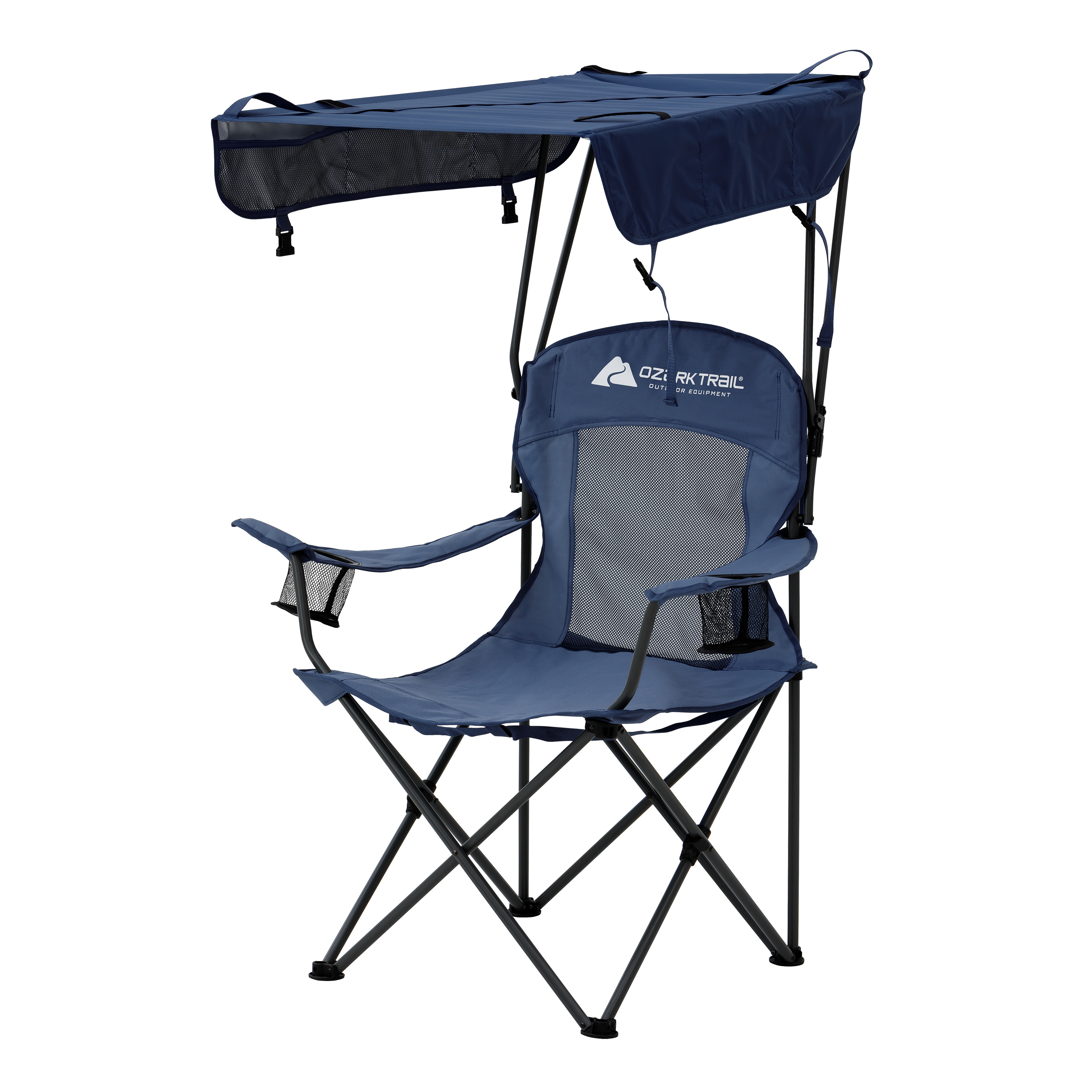Ozark Trail Sand Island Shaded Canopy C&ing Chair with Cup Holders  sc 1 st  Walmart & Canopy Chairs