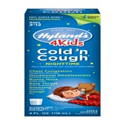 Hyland's 4 Kids Cold 'n Cough Nighttime Ages 2 - 12, 4.0 FL OZ