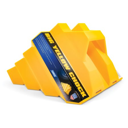 Camco 44419 Big Yellow Chock Without Rope, Helps Keep Your Trailer or RV In (Best Place To Sell Rv)