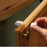 Child Proof Cabinet Locks With New Install Tool Magnetic Safety Baby