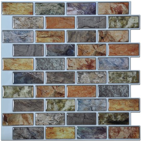 - Art3d 10-Sheet Peel & Stick Kitchen Backsplash Sticker, 12
