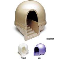 Booda Dome Clean Step Cat Litter Box, Nickel