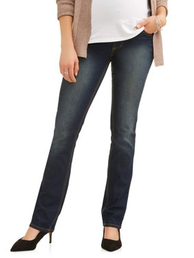 Maternity Full-Panel Super Soft Straight Leg Jeans -- Available in Plus Size