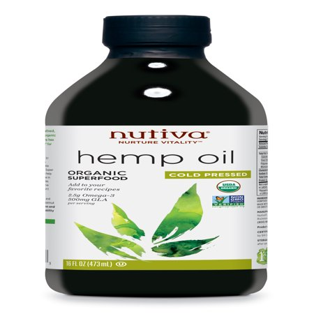 Nutiva Organic Cold-Pressed Hemp Oil, 16 Fl Oz