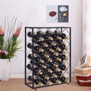 Gymax 32 Bottle Wine Rack Metal Storage Display Liquor Cabinet W Gl Table Top
