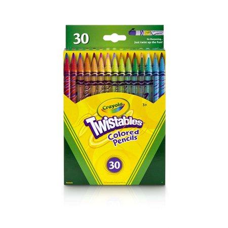 Crayola Twistables Colored Pencils Coloring Supplies Gift 30