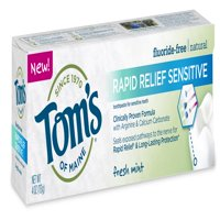 (3 Pack) Tom's of Maine Rapid Relief Fluoride Free Sensitive Toothpaste, Fresh Mint, 4.0 Oz