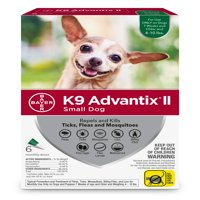 K9 Advantix II Flea and Tick Treatment for Small Dogs