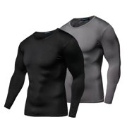 038e65d164ce39 Compression Baselayer-Allcaca Men s Quick Dry Compression Baselayer  Compression Baselayer Mock Long Sleeve T Shirtsfor