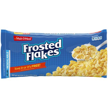 (2 Pack) Malt-O-Meal Breakfast Cereal, Frosted Flakes, 40.5 Oz