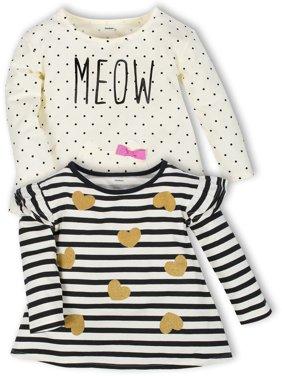 Long Sleeve Knit T-Shirts 2-Pack (Baby Girls & Toddler Girls)