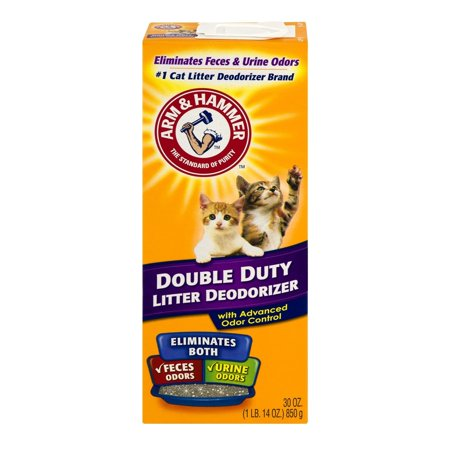 Litter Box Freshener - Arm & Hammer Double Duty Cat Litter Deodorizer With Advanced Odor Control, 30-oz