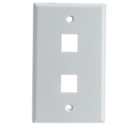 - ACL Keystone 2 Port, Single Gang Wall Plate, White, 1 Pack