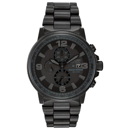 Citizen Men's Eco-Drive Night Hawk Chronograph Watch (Best Deals On Citizen Eco Drive Watches)
