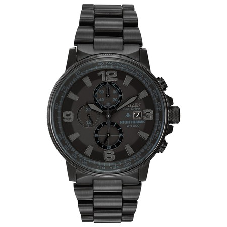 Citizen Men's Eco-Drive Night Hawk Chronograph Watch