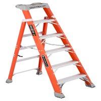 Louisville Ladder FXS1506 6 ft.Fiberglass Cross Step Ladder, Type IA, 300 Lbs Load Capacity