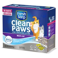 Fresh Step Clean Paws Multi-Cat Scented Litter with the Power of Febreze, Clumping Cat Litter, 18 lbs