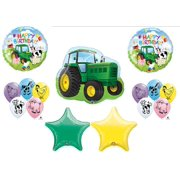 Farm Tractor Barnyard Cow Pig Deere Birthday Party Balloons Favors Decorations Supplies John