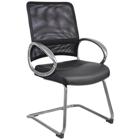 Reception Office Chairs (Boss Office Products Black Guest Reception Waiting Room Chair)