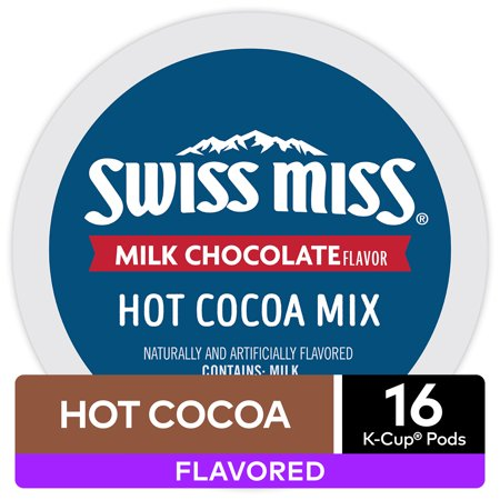 Swiss Miss Milk Chocolate Hot Cocoa, Keurig K-Cup Pod, 16 Ct - Snowman Hot Chocolate
