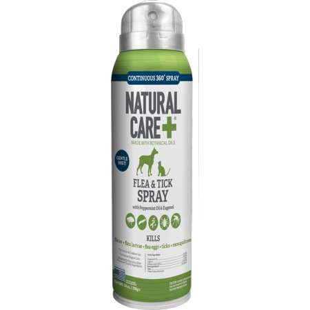 Natural Care Flea and Tick Spray for Dogs and Cats | Flea Treatment for Dogs and Cats | Flea Killer with Certified Natural Oils | 14