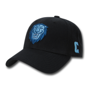 a12517d4456afc NCAA Columbia University Structured Acrylic 6 Panel Baseball Caps Hats Black