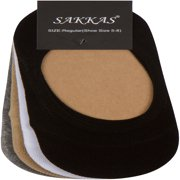Sakkas Women's Footsies Solid Shoe Foot Invisible Liner No Show Socks - 4 Pack - Assorted Colors - 5-8