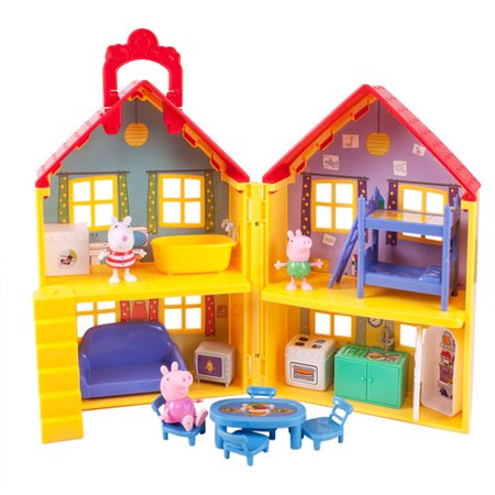 Peppa Pig Peppa S Deluxe House Play Set Walmart Com