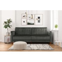 DHP Pin Tufted Transitional Velvet Futon Couch, Multiple Colors