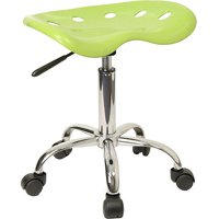 Flash Furniture Adjustable Height Task Stool with Tractor Seat, Multiple Colors