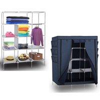 "Zimtown 69"" Portable Closet Wardrobe Clothes Rack Storage Organizer & Shelf Home Cabinet"