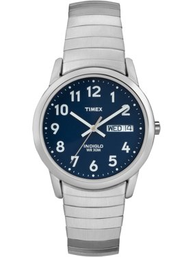 Men's Easy Reader Watch, Silver-Tone Stainless Steel Expansion Band