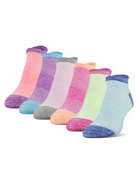 Athletic Works Women's Midcushion Zone Cushion No Show Socks, 6 Pairs