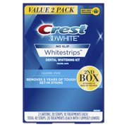 Crest 3D White Whitestrips Classic Vivid Teeth Whitening Kit, 20 Treatments, Value 2 Pack