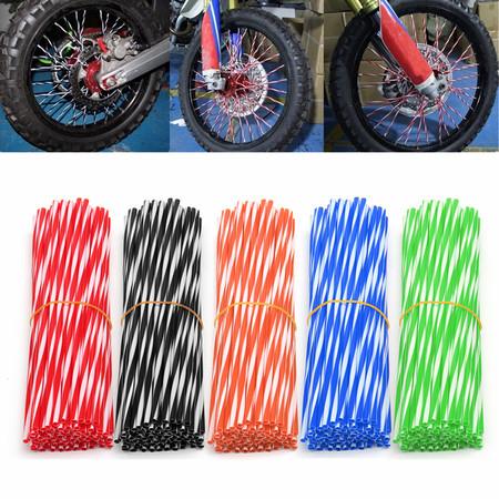 72Pcs/Set Universal Motorcycle Motocross Dirt Bike Spoke Skins Enduro Wheel Rim Spoke Skins Covers - Enduro Dirt Bike