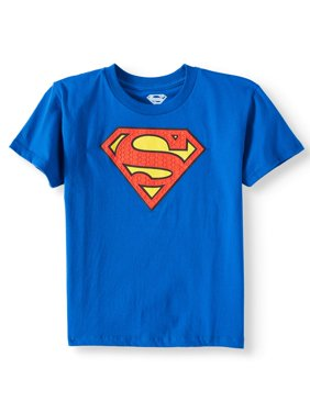 Royal Blue DC Comics Superman Logo with HD Ink Short Sleeve Tee (Little Boys & Big Boys)