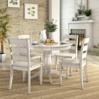 Lexington 5-Piece Dining Set with Round Table and 4 Ladder Back Chairs