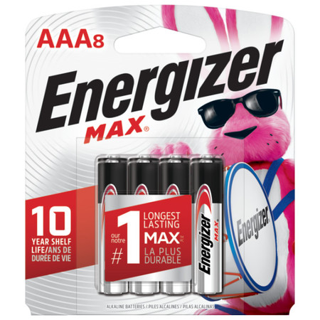 Energizer Max Alkaline AAA Batteries 8-Pack ()