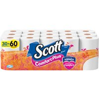 Scott ComfortPlus Toilet Paper, 30 Double Rolls (=60 Regular Rolls)