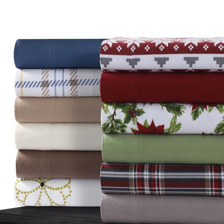 Cotton Flannel Extra Deep Pocket Sheet Set With Oversize Flat Sheet Cal King Chocolate